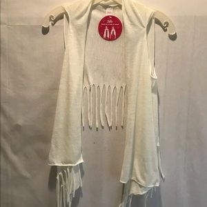 Justice Girls NWT Fringe Vest Scarf Size Small